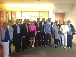 Austrian Trade Delegation Visits the USC Schwarzenegger Institute