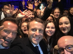 Schwarzenegger Joins President Macron and World Leaders at One Planet Summit in Paris
