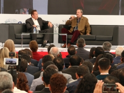 President Vicente Fox and Governor Arnold Schwarzenegger Discuss Leadership and Policy at Centro Fox