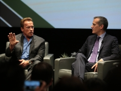 Governor Schwarzenegger and Mayor Garcetti Inspire Audience With Confidence About Continued U.S. Environmental Leadership