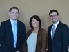 Bonnie Reiss with Jackson Hite and Steven Welliver, the graduate students who put on the Case Challenge